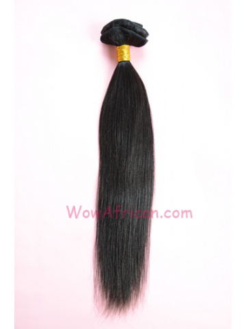 01Natural Color Yaki Straight Chinese Virgin Clip In Hair Extensions[CPC02]