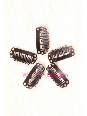 5pcs Black Metal Hair Snap Clips[HA01]