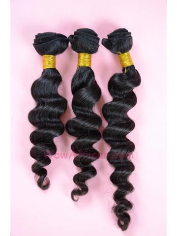 Indian Virgin Hair Weave 3pcs Bundle Natural Color Milan Curl [WB81]