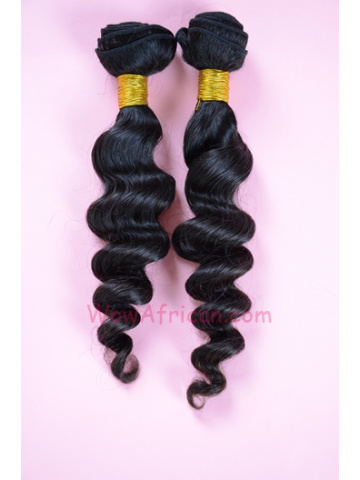 Indian Virgin Natural Color Milan Curl Hair Weave 2pcs Bundle[WB57]