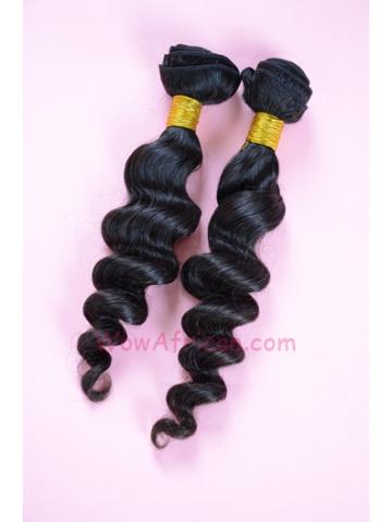 Natural Color Milan Curl Brazilian Virgin Hair Weave 2pcs Bundle[WB10]