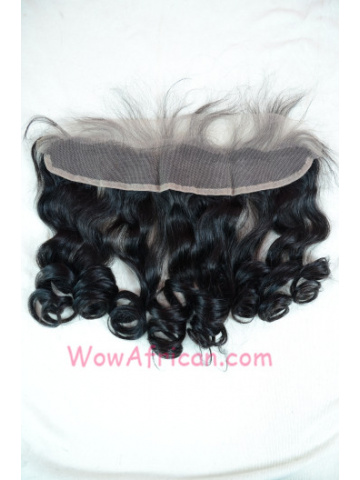 #1B Off Black Body Wave Indian Remy Hair Lace Frontal 13X2inches [LF06]