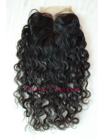 Middle Part Lace Closure Brazilian Curl Brazilian Virgin Hair [MC08]