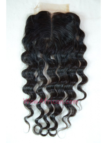 Middle Part Lace Closure Milan Curl Brazilian Virgin Hair [MC09]