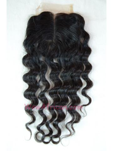 Middle Part Lace Closure Milan Curl Brazilian Virgin Hair [MC09]