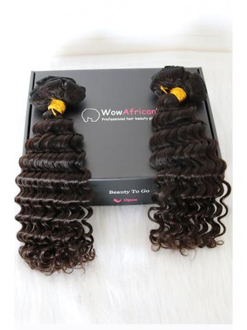 2 Packs Clip In Hair Brazilian Virgin Deep Wave 8pcs[CSC14]