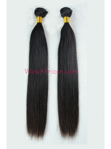 European Virgin Hair Weave Natural Color Silky Straight 2pcs Bundle