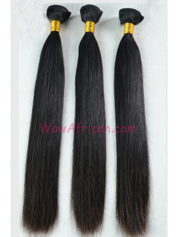 European Virgin Hair Weave Natural Color Silky Straight 3pcs Bundle