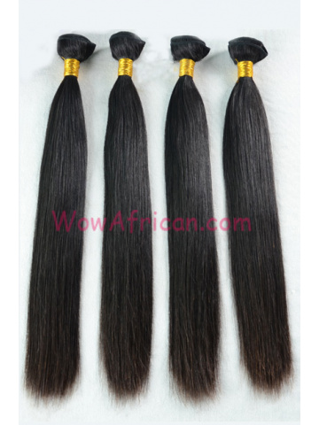 European Virgin Hair Weave Natural Color Silky Straight 4pcs Bundle