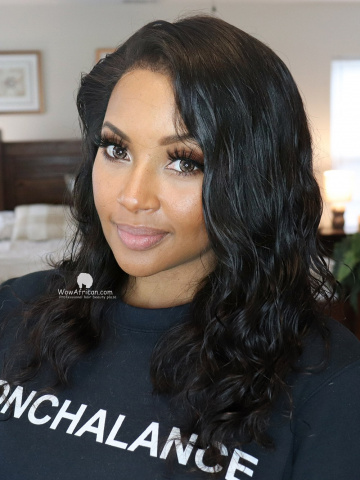 Medium Length Wavy Virgin Hair 360 Wig [Michelle045]