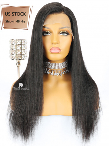 American Stock- Yaki Straight Brazilian Virgin Hair Glueless Full Lace Wigs[FLW13US]
