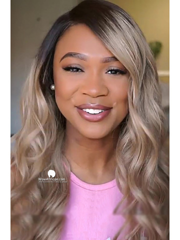 6in Ash Blonde Brazilian Human Hair Lace Front Wigs[Lynsey002]