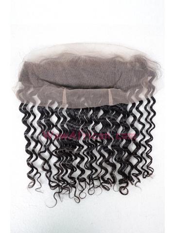 Natural Color Deep Wave Brazilian Virgin Hair Lace Frontal [LF19]