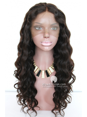 Pre-plucked Ciara Inspired Wavy Brazilian Virgin Hair Glueless Full Lace Wigs[GFL31]
