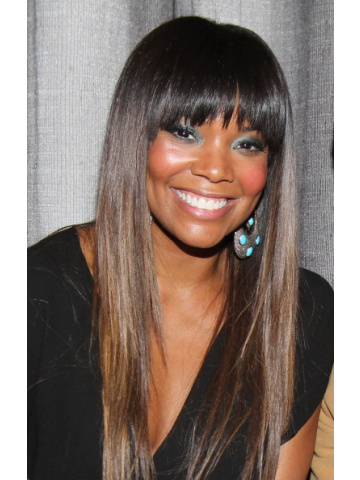 Gabrielle Union Ombre Straight Bangs Lace Wig [CLW04]