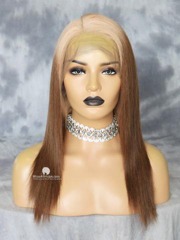 14in Ombre 180% Density Silky Straight Brazilian Virgin 360 Lace Wig [MS48]