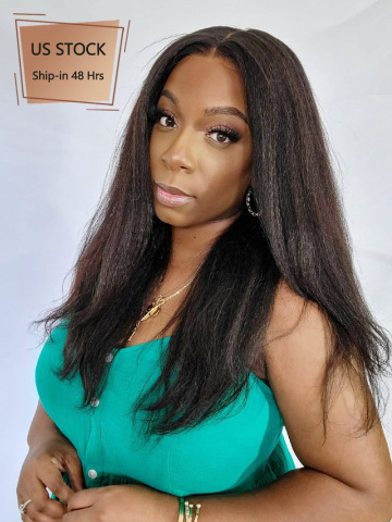 13X6in Thick Density Kinky Straight Lace Front Human Wig [HW08US]