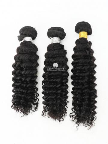 #1B Off Black Water Wave Indian Hair Weave 3pcs Bundles[CS28]