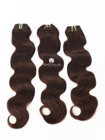 #2 Dark Brown Body Wave Indian Hair Weave 3pcs Bundles[CS36]