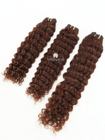 #4 Light Brown Deep Wave Indian Hair Weave 3pcs Bundles[CS23]