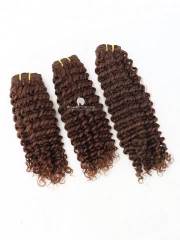 #4 Light Brown Water Wave Indian Hair Weave 3pcs Bundles[CS29]