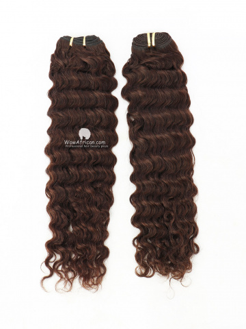 #2 Dark Brown Deep Wave Indian Hair Weave 2pcs Bundles[CS19]