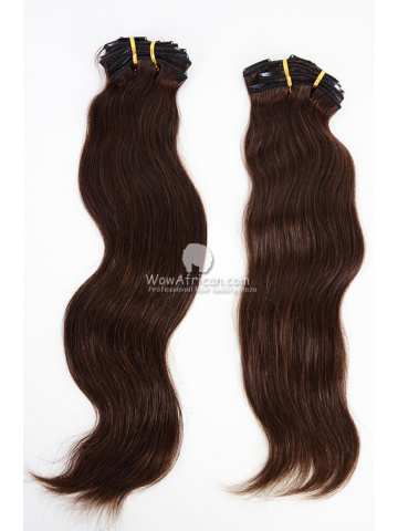 2 Packs Clip In Hair Indian Remy #2 Dark Brown Natural Straight 8pcs[CSC16]