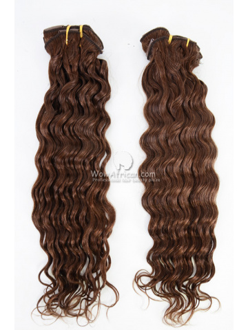 2 Packs Clip In Hair Indian Remy #4 Medium Brown Deep Wave 7pcs[CSC36]