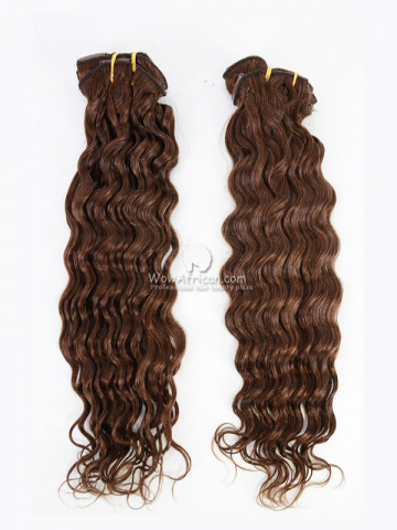2 Packs Clip In Hair Indian Remy #4 Medium Brown Deep Wave 8pcs[CSC32]