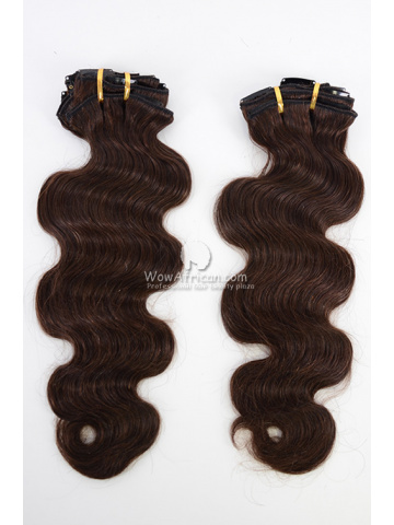 2 Packs Clip In Hair Indian Remy #2 Dark Brown Body Wave 7pcs[CSC27]