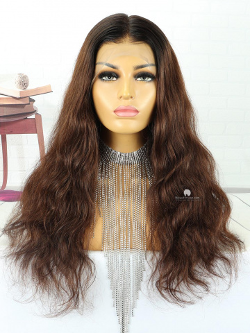 20in Loose Wavy Ombre Indian Hair Full Lace Wig[MS122]