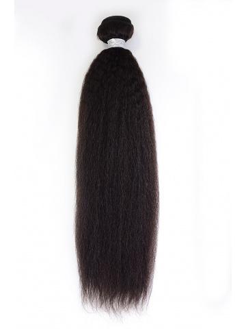 Indian Virgin Hair Weave Natural Color Italian Yaki [WTI27]
