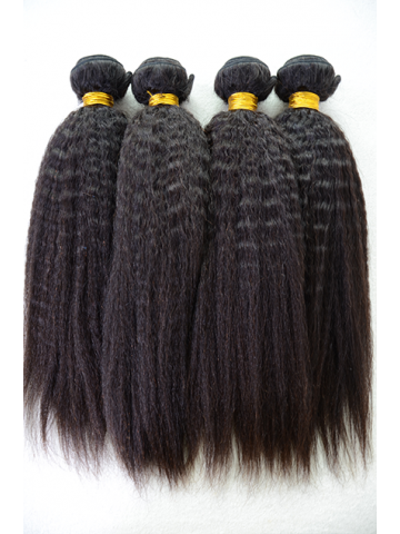 Natural Color Italian Yaki Brazilian Virgin Hair Weave 4pcs Bundle[WB227]