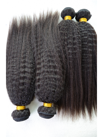 Indian Virgin Natural Color Italian Yaki Hair Weave 4pcs Bundle[WB253]