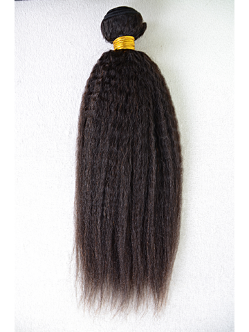 Natural Color Italian Yaki Brazilian Virgin Clip In Hair Extensions[CPB12]