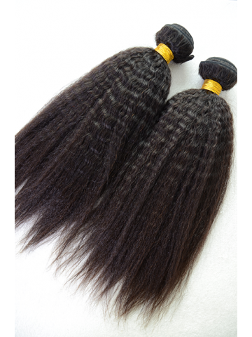 Indian Virgin Natural Color Italian Yaki Hair Weave 2pcs Bundle[WB251]