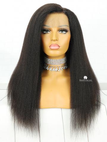 130% Density 360 Lace Wig Italian Yaki Malaysian Virgin Hair [TLW42]