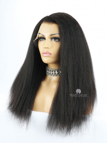 Thick Density Italian Yaki 13X6in Lace Front Human Virgin Wig[HW02]