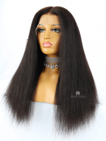 13X6in Thick Density Kinky Straight Lace Front Human Wig[HW08US]
