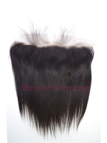 Natural Color Silky Straight Brazilian Virgin Hair Lace Frontal [LF17]