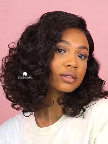 Pillow Soft Curls Virgin Brazilian Hair Bob Wig [Lynsey004]