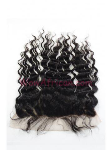 Natural Color Milan Curl Brazilian Virgin Hair Lace Frontal [LF22]