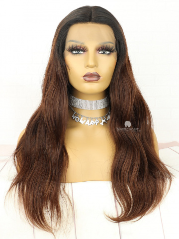 20in Natural Wavy  Lace Front Lace Wigs Brazilian Hair [MS238]