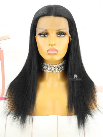16in #1 Yaki Straight Brazilian Virgin Hair Full Lace Wig[MS240]