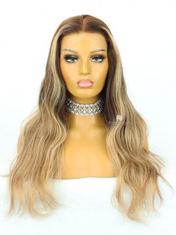 20in Omber Wavy HD Lace Front Lace Wigs Brazilian Hair [MS246]