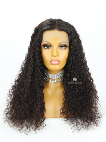 20in Natural Color Water Wave 360 Lace Wig 180% Density Brazilian Hair [MS260]