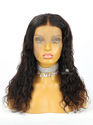 18in Natural Color Loose Wave 360 Lace Wig 150% Density Brazilian Hair [MS261]