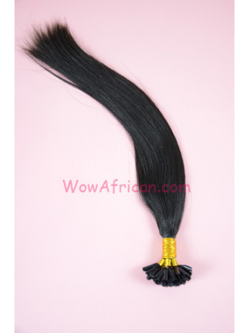 Brazilian Virgin Hair Natural Color Silky Straight Nail Tip Hair Extensions[FH02]