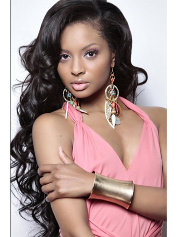 Natural Color Body Wave Brazilian Virgin Hair Silk Top Lace Wigs[STW03]