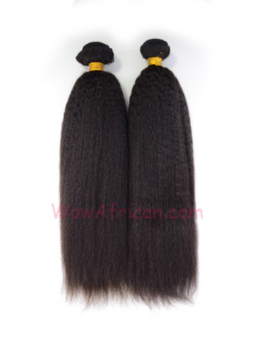 Natural Color Italian Yaki Brazilian Virgin Hair Weave 2pcs Bundle[WB225]